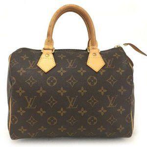 Louis Vuitton Monogram Speedy 25 Boston Hand Bag
